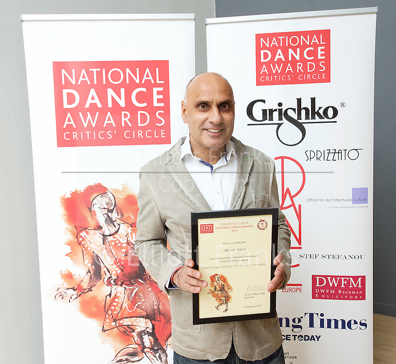 The Critics' Circle National Dance Awards 2016 <br /> at the Lilian Baylis Studio, Sadler's Wells, London, Great Britain <br /> <br /> 6th February 2017 <br /> <br /> Akram Khan Company  <br /> <br /> Photograph by Elliott Franks <br /> Image licensed to Elliott Franks Photography Services