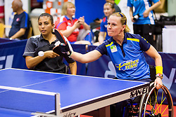(Team SWE) AHLQUIST Anna-carin and TABIB Caroline Odaia in action during 15th Slovenia Open - Thermana Lasko 2018 Table Tennis for the Disabled, on May 10, 2018 in Dvorana Tri Lilije, Lasko, Slovenia. Photo by Ziga Zupan / Sportida