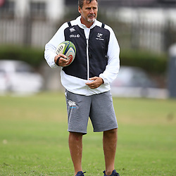 DURBAN, SOUTH AFRICA - MAY 15: Robert du Preez (Head Coach) of the Cell C Sharks during the Cell C Sharks training session at Jonsson Kings Park on May 15, 2018 in Durban, South Africa. (Photo by Steve Haag/Gallo Images)