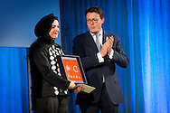 2-12-2015 AMSTERDAM - King Willem-Alexander, Queen M&aacute;xima, Princess Beatrix, Princess Mabel, Prince Constantijn and Princess Laurentien in the Royal Palace in Amsterdam attended the presentation of the Prince Claus Award in 2015 in the Iranian photographer Newsha Tavakolian. at the palace on the Dam . COPYRIGHT ROBIN UTRECHT<br /> <br /> 2-12-2015 AMSTERDAM -  Koning Willem-Alexander, Koningin M&aacute;xima, Prinses Beatrix, Prinses Mabel, Prins Constantijn en Prinses Laurentien zijn in het Koninklijk Paleis Amsterdam aanwezig bij de uitreiking van de Grote Prins Claus Prijs 2015 aan de Iraanse fotografe Newsha Tavakolian in het paleis op de dam. COPYRIGHT ROBIN UTRECHT