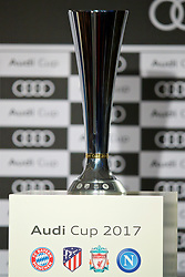 MUNICH, GERMANY - Monday, July 31, 2017: The Audi Cup trophy on display during a press conference ahead of the Audi Cup 2017 at the Westin Grand Hotel München. (Pic by David Rawcliffe/Propaganda)