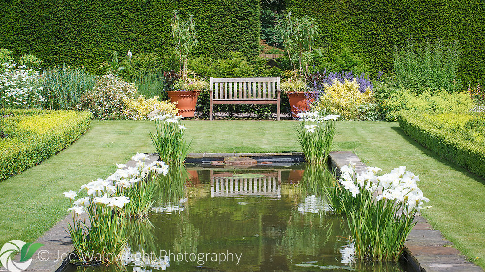 Featuring a long, shallow pool running east to west, the Pool Garden at Abbeywood Gardens, Cheshire, was created in 2006.
