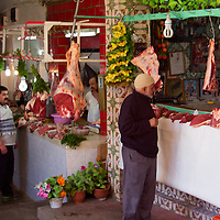 North Africa, Morocco, Fes. Meat souk in Fes.