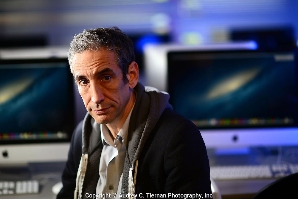 Flushing, NY, May 8, 2014: ---  Douglas Rushkoff, a professor of media studies at Queens College.  © Audrey C. Tiernan