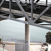 The San Francisco-Oakland Bay Bridge is under construction, and scheduled to open Labor Day 2013. The Self-Anchored Suspension Span (SAS) is the largest bridge of its kind in the world measuring 2,047 feet. This engineering and construction marvel raises the bridge building bar to new heights, as seen in these behind the scenes photos taken of the Yerba Buena Island structure on Monday, March 18, 2013. (AP Photo/Alex Menendez)