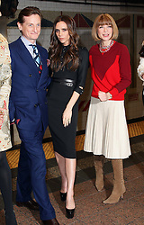Victoria Beckham launches the Britains GREAT campaign after being named as their international ambassador at  Grand Central Station in New York, Wednesday 15th February 2012. With Hamish Bowles and Anna Wintour .  Photo by: Stephen Lock / i-Images
