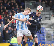Dundee's Greg Stewart and Ross County's Marcus Fraser - Ross County v Dundee, SPFL Premiership at The Global Energy Stadium<br /> <br />  - &copy; David Young - www.davidyoungphoto.co.uk - email: davidyoungphoto@gmail.com