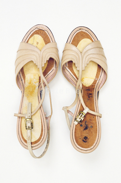 a pair of old woman shoes