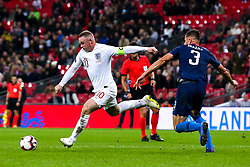 Wayne Rooney of England takes on Matt Miazga of USA - Mandatory by-line: Robbie Stephenson/JMP - 15/11/2018 - FOOTBALL - Wembley Stadium - London, England - England v United States of America - International Friendly