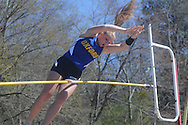 Oxford High's Mollie Beth Ott does the pole vault in the Oxford Eagle Invitational track meet in Oxford, Miss. on Saturday, March 10, 2012. Oxford won 6-5.