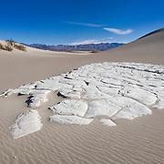 Sand Stone Outcrop - Mesquite Dunes - Death Valley, CA