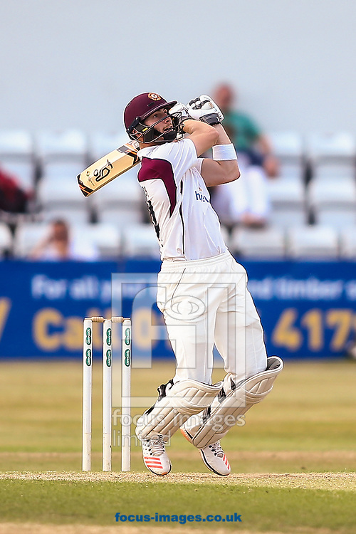 Rob Keogh of Northamptonshire CCC hits out during the Specsavers County C'ship Div Two match at the County Ground, Northampton<br /> Picture by Andy Kearns/Focus Images Ltd 0781 864 4264<br /> 14/08/2016