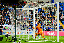 Neil Etheridge of Cardiff City watches as the ball goes past him for Johann Gudmundsson of Burnley scores his sides first goal of the game  - Mandatory by-line: Ryan Hiscott/JMP - 30/09/2018 -  FOOTBALL - Cardiff City Stadium - Cardiff, Wales -  Cardiff City v Burnley - Premier League