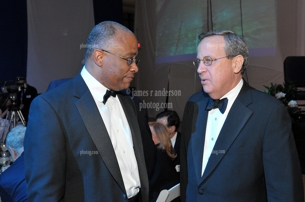 Kurt Schmoke and Yale President Richard C. Levin. Yale University Department of Athletics Blue Leadership Ball 2009. At The Lanman Center before Presentation of Awards to Blue Leader Honorees and Speeches.
