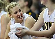 February 18, 2010: Iowa guard Kamille Wahlin (2) talks with teammates during the second half of the NCAA women's basketball game at Carver-Hawkeye Arena in Iowa City, Iowa on February 18, 2010. Iowa defeated Minnesota 75-54.
