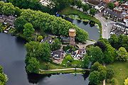 Nederland, Utrecht, Woerden, 03-05-2011;.Watertoren in vestingstadje Woerden. Water tower in fortified city Woerden. luchtfoto (toeslag), aerial photo (additional fee required).copyright foto/photo Siebe Swart
