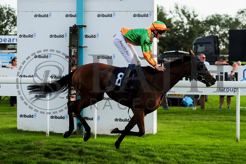 Gemini ridden by Ben Robinson and trained by John Quinn in the Visit Valuerater.Co.Uk Nursery Handicap race.  - Ryan Hiscott/JMP - 15/09/2019 - PR - Bath Racecourse - Bath, England - Race Meeting at Bath Racecourse