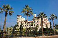 Egypte, la côte méditerranéenne, Alexandrie, Palais Montazah, ex-propriété du roi Farouk. // Egypt, Alexandria, Montaza Palace, Former Farouk king palace.