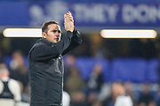 Derby County manager Frank Lampard after the EFL Cup 4th round match between Chelsea and Derby County at Stamford Bridge, London, England on 31 October 2018.