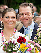 The 39th birthday celebrations for Crown Princess Victoria at Solliden in Oland, Sweden.