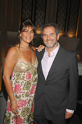 ZEEV GODIK Chief Executive of the Gaucho and his wife PATSY GODIK at the opening of the new Gaucho restaurant at the O2 Arena, London on 15th May 2008.<br /><br />NON EXCLUSIVE - WORLD RIGHTS