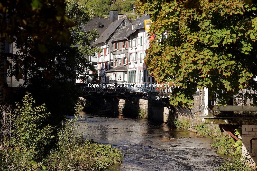 River Rur flows through Monschau ..., Travel, lifestyle