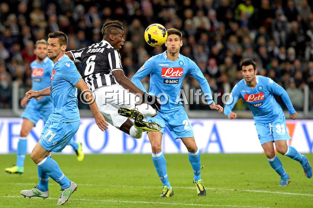 &copy; Filippo Alfero<br /> Juventus-Napoli, Serie A 2013-2014<br /> Torino, 10/11/2013<br /> sport calcio<br /> Nella foto: Paul Pogba