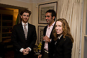 Rodolphe von Hofmannsthal; Aatish Taseer;  Lady Frances von Hofmannsthal; Aatish Taseer  book launch party for his new book Stranger To History. Travel book asks what it means to be a Muslim in the 21st century. Hosted by Gillon Aitken. Kensington, London. 30 March 2009