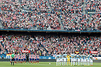 Tribute to the Atletico de Madrid's supporters died in 2014 during La Liga match.September 20,2014. (ALTERPHOTOS/Acero)