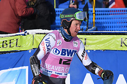 02.12.2018, Beaver Creek, USA, FIS Weltcup Ski Alpin, Beaver Creek, Riesenslalom, Herren, 1. Lauf, im Bild Ted Ligety (USA) // Ted Ligety of the USA reacts after his 1st run of men's Giant Slalom of FIS ski alpine world cup in Beaver Creek, United States on 2018/12/02.12.2018. EXPA Pictures © 2018, PhotoCredit: EXPA/ Erich Spiess