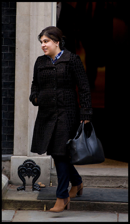 Sayeeda Warsi leaving No10 Downing Street, London Thursday February 5, 2013.Photo By Andrew Parsons / i-Images