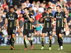 Tottenham Hotspur's Harry Kane, Tottenham Hotspur's Nabil Bentaleb, Tottenham Hotspur's Ryan Mason and Tottenham Hotspur's Nacer Chadli - Photo mandatory by-line: Robbie Stephenson/JMP - Mobile: 07966 386802 - 07/03/2015 - SPORT - Football - London - Loftus Road - Queens Park Rangers v Tottenham Hotspur - Barclays Premier League