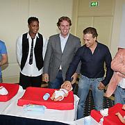 NLD/Amsterdam/20080613 - Verkiezing Beste Pappa van het jaar 2008, bart Bosch, patrick Kluivert, Edwin Smulders, Grad Damen en Hans Kazan