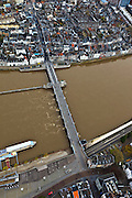 Nederland, Limburg, Maastricht, 15-11-2010;.De Maas in Maastricht met de Sint-Servaasbrug..The Sint-Servaas bridge on the Meuse  in Maastricht..luchtfoto (toeslag), aerial photo (additional fee required).foto/photo Siebe Swart