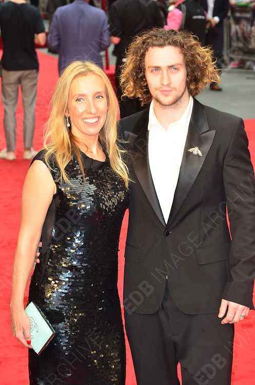 04.SEPTEMBER.2012. LONDON<br /> <br /> AARON TAYLOR-JOHNSON AND SAM TAYLOR WOOD ATTEND THE UK FILM PREMIERE OF NEW FILM ANNA KARENINA AT THE ODEON CINEMA, LEICESTER SQAURE.<br /> <br /> BYLINE: EDBIMAGEARCHIVE.CO.UK<br /> <br /> *THIS IMAGE IS STRICTLY FOR UK NEWSPAPERS AND MAGAZINES ONLY*<br /> *FOR WORLD WIDE SALES AND WEB USE PLEASE CONTACT EDBIMAGEARCHIVE - 0208 954 5968*