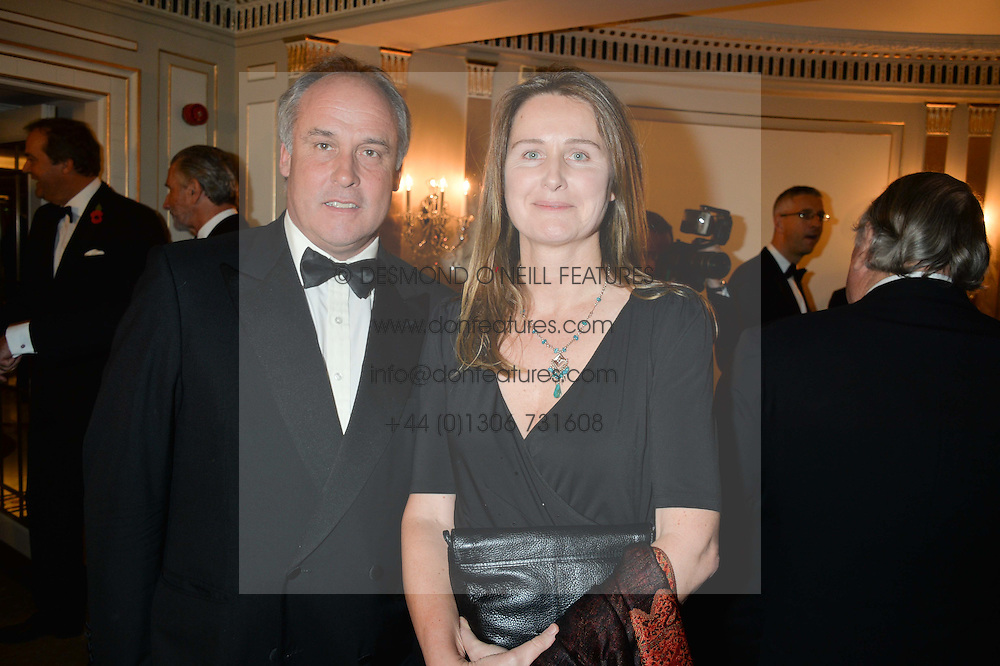 MR & MRS HUGO LASCELLES he is the Bloodstock Agent at the 24th Cartier Racing Awards held at The Dorchester, Park Lane, London on 11th November 2014.