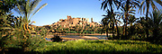MOROCCO, SAHARA DESERT the Kasbah of Tiffoultoute; a fortified citadel near Ouarzazate between the High Atlas Mountains and the Sahara