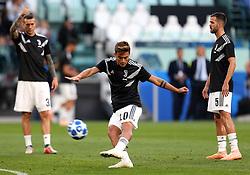 Juventus' Paulo Dybala during warm-up