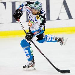 Rob Hisey (EHC Liwest Linz, #26) during ice-hockey match between HDD Tilia Olimpija and EHC Liwest Black Wings Linz at fourth match in Semifinal  of EBEL league, on March 13, 2012 at Hala Tivoli, Ljubljana, Slovenia. (Photo By Matic Klansek Velej / Sportida)