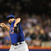 NEW YORK, NEW YORK - July 02: Pitcher Jake Arrieta #49 of the Chicago Cubs pitching during the Chicago Cubs Vs New York Mets regular season MLB game at Citi Field on July 02, 2016 in New York City. (Photo by Tim Clayton/Corbis via Getty Images)
