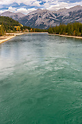 Landscape photographs of Athabasca River, AB, Canada