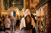 Ukraine, Kyiv, Saint Volodymyr's Cathedral, Mother Cathedral Of The Ukrainian Orthodox Church, Interior, Service, Worshippers
