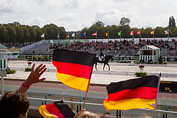 Elke Philipp, (GER), Regaliz - Freestyle Grade Ia Para Dressage - Alltech FEI World Equestrian Games™ 2014 - Normandy, France.<br /> © Hippo Foto Team - Leanjo de Koster<br /> 25/06/14