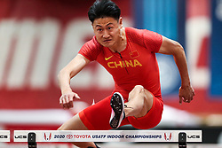 Don Kirby Invitational Indoor Track & Field<br /> Albuquerque, NM, Feb 14, 2020<br /> mens 60m hurdles heats, China