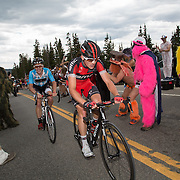 Mathais Frank drags Lawson Craddock through the Hoosier Pass KOM and its resident menagerie..