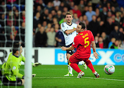 Scotland's James Morrison (West Brom) sees his shot well saved - Photo mandatory by-line: Joe Meredith/JMP  - Tel: Mobile:07966 386802 12/10/2012 - Wales v Scotland - SPORT - FOOTBALL - World Cup Qualifier -  Cardiff   - Cardiff City Stadium -