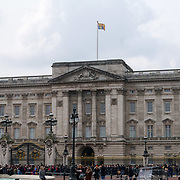 Royal Standard does not flies at half mast over Buckingham Palace after-mast knifes attacks killed 5 people included on 23th March 2017, London,UK. by See Li