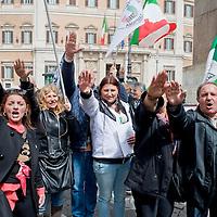 Manifestazione del MIS contro il governo Renzi