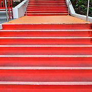Red stairs in King Edward Park on Turbot Street, Brisbane