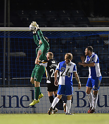 Bristol Rovers goalkeeper Fabian Spiess grabs the ball out of the air - Photo mandatory by-line: Paul Knight/JMP - Mobile: 07966 386802 - 19/12/2014 - SPORT - Football - Bristol - The Memorial Stadium - Bristol Rovers v Gateshead - Vanarama Conference